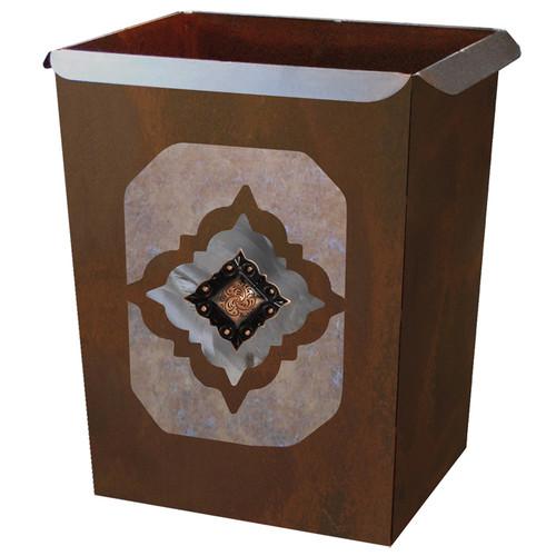 Diamond Copper Concho Waste Basket