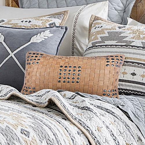 Diamond Haze Weave Pillow