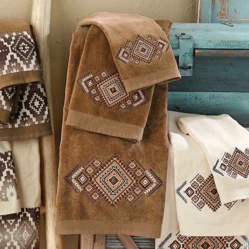 Diamond Mesa Mocha Towel Set