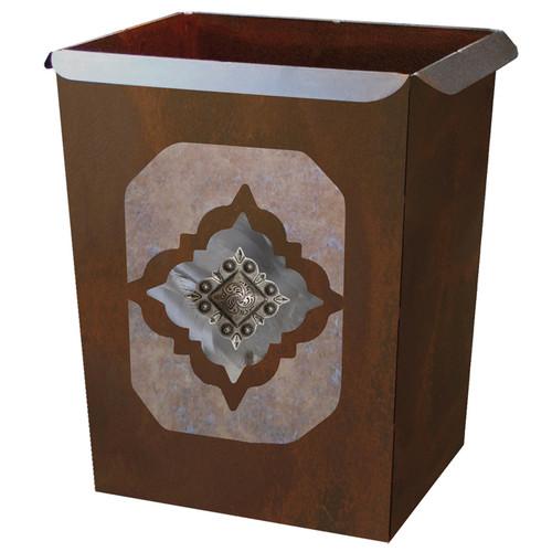Diamond Silver Concho Waste Basket