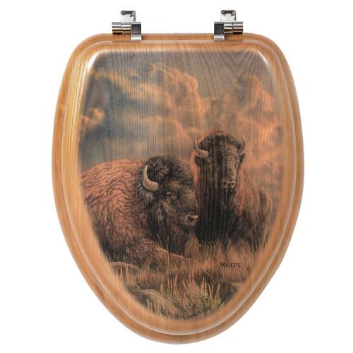 Great Plains Bison Toilet Seat - Round