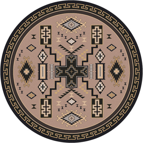 Double Cross Sand Rug - 8 Ft. Round