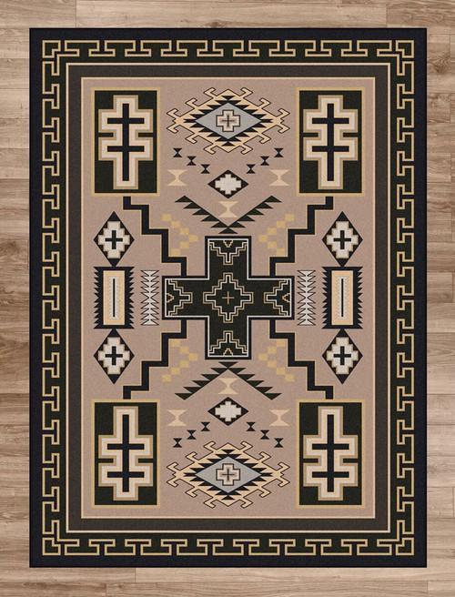 Double Cross Sand Rug - 8 x 11