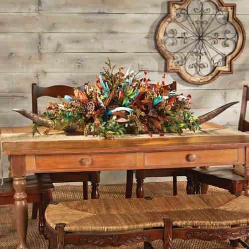 Double Longhorn Floral Arrangement