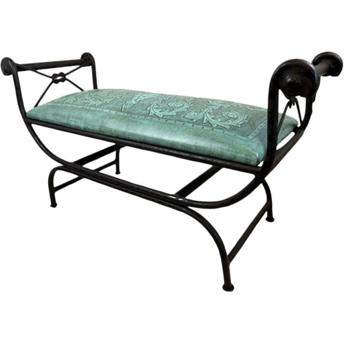 Double Vanity Bench - Colonial & Turquoise