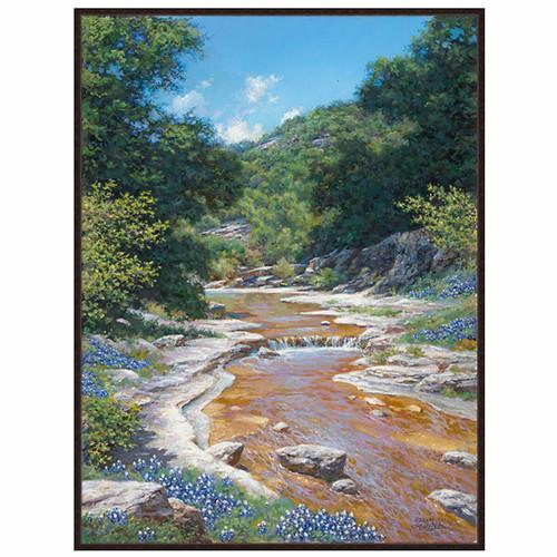 Downstream Flowers Canvas Art