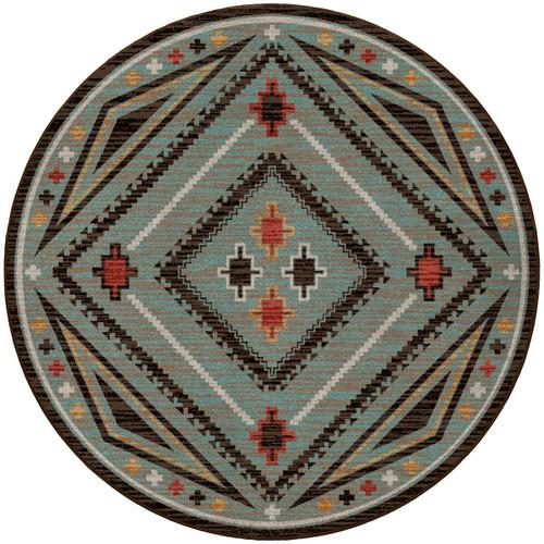 Dream Weaver Turquoise Rug - 8 Ft. Round