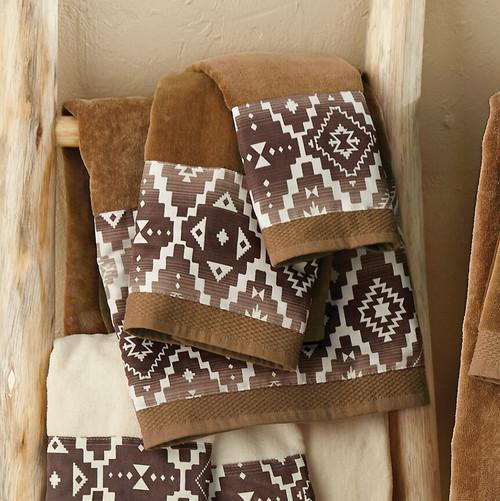 Durango Diamond Mocha Towel Set