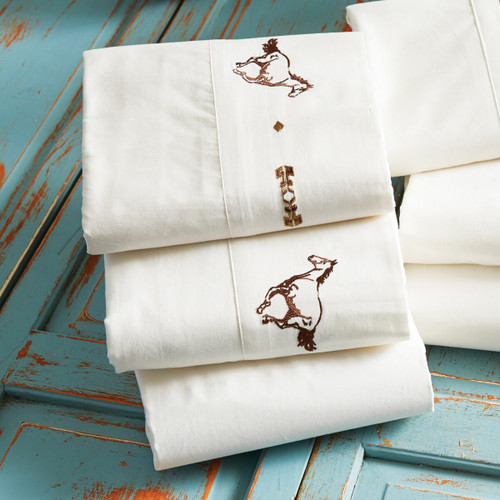 Embroidered Horse Sheet Set - Twin
