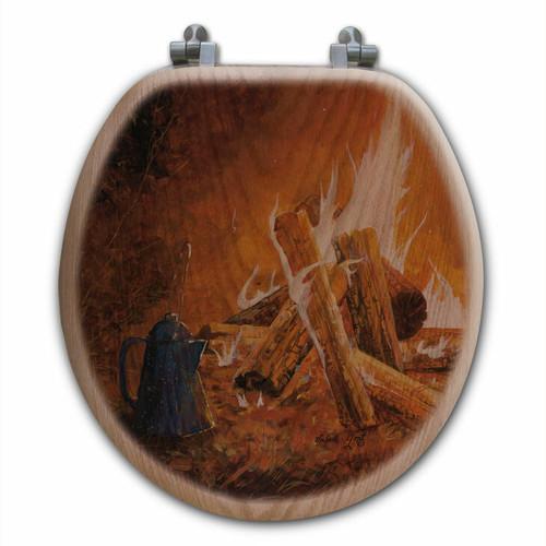 Evening Campfire Toilet Seat - Round