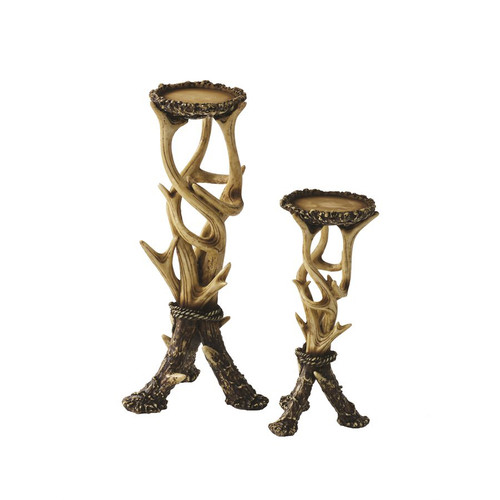 Faux Antler Candle Holders - Set of 2