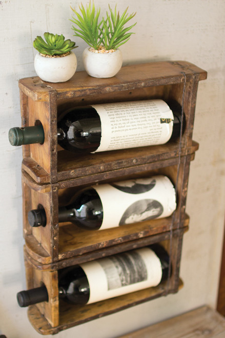 Faux Brick Wine Bottle Holder