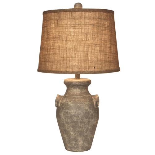 Faux Concrete Crock Table Lamp