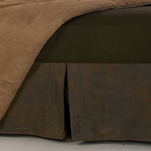 Faux Leather Bedskirt - Twin