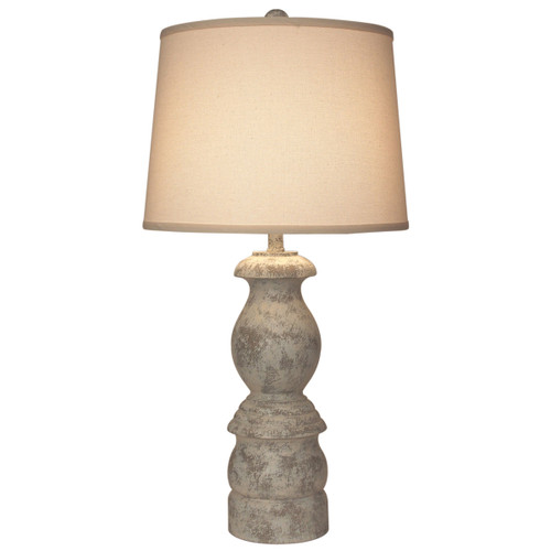 Faux Stone Baluster Table Lamp