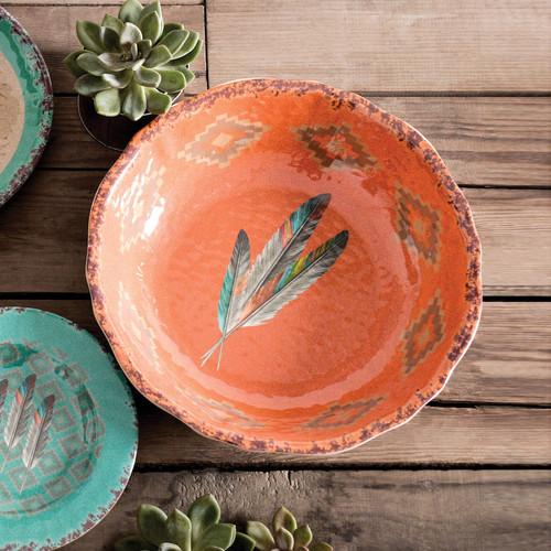 Feather Design Melamine Serving Bowl