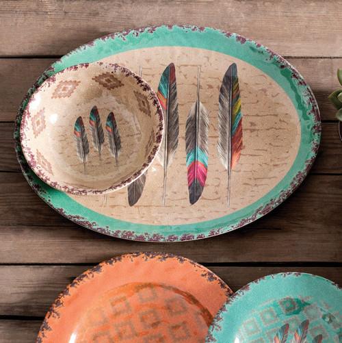 Feather Design Melamine Serving Platter