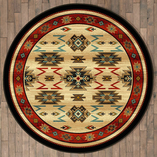 Fiery Gorge Canyon Rug - 8 Ft. Round