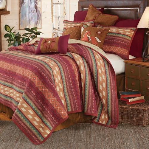 Fire Dance Reversible Quilt Bed Set - Full/Queen
