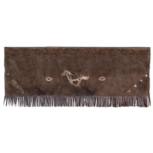 Flying Horse Faux Leather Valance