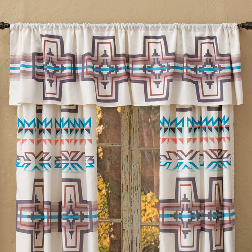 Frost Canyon Cross Lined Valance