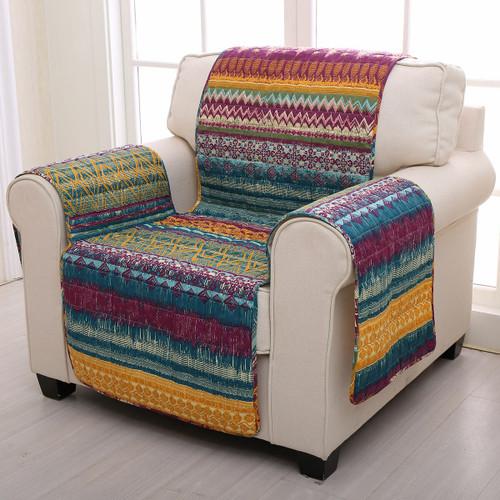 Fuchsia Tribal Arm Chair Protector