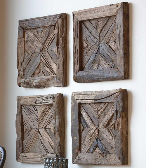 Geometric Reclaimed Wood Wall Art