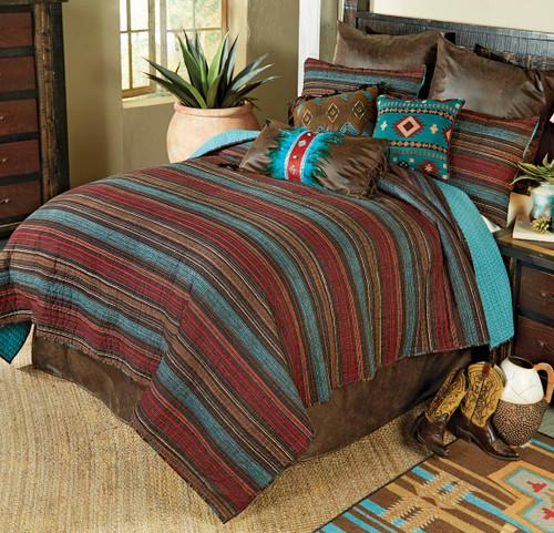 Santa Fe Stripes Quilt Bedding Collection