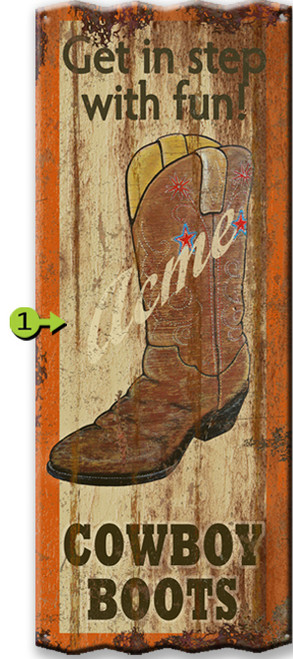Get In Step Personalized Corrugated Metal Sign
