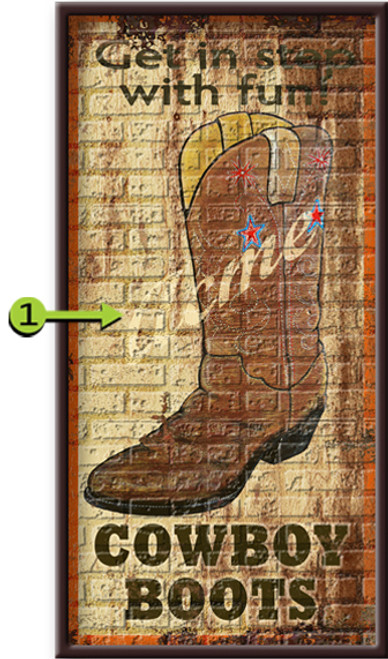 Get In Step Personalized Framed Art