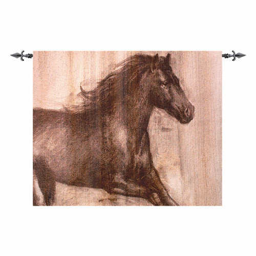 Graceful Stallion Wall Tapestry
