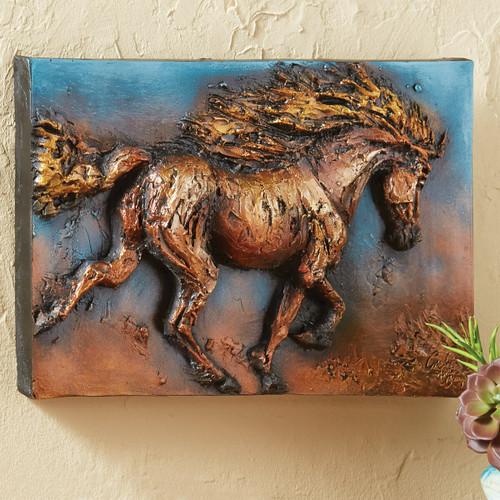 Great Plains Horse 3-D Wall Sculpture