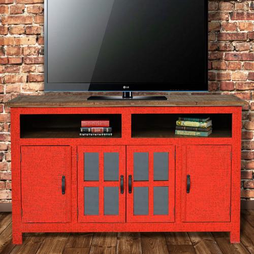 Hacienda TV Stand - Red