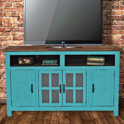 Hacienda TV Stand - Turquoise