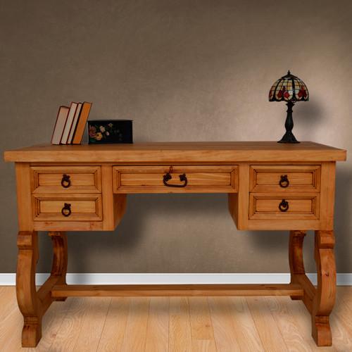 Hawkins Five Drawer Desk - Medio Finish