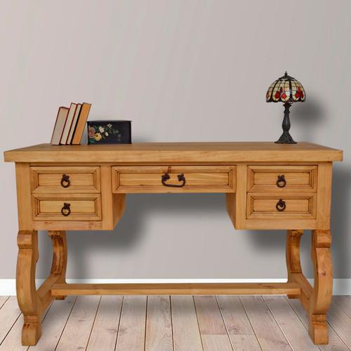 Hawkins Five Drawer Desk - Natural Finish