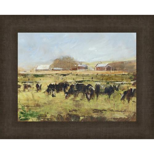 Hayfields II Framed Print