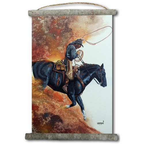 Hell Bent For Leather Canvas Vertical Wall Scroll