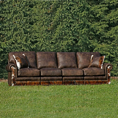 Hinsdale Stallone Sectional Sofa with Hair on Hide
