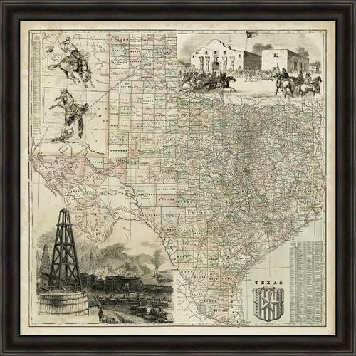 Historic Texas Framed Art