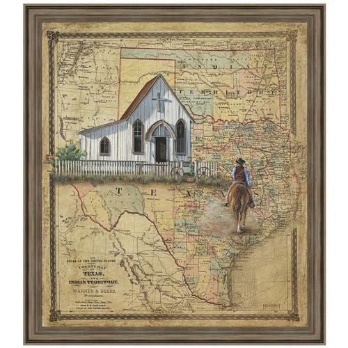 Homestead Map Canvas Art