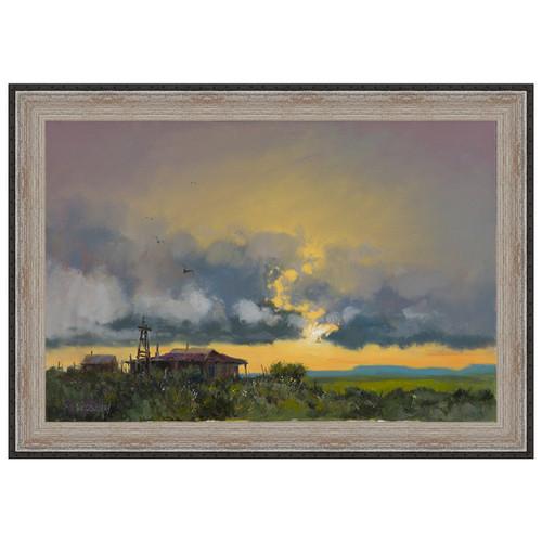 Homestead Sunset Framed Canvas