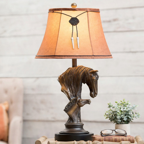 Horse & Colt Table Lamp