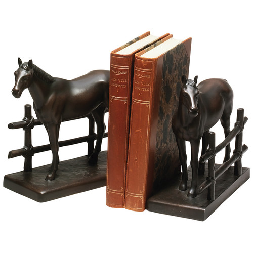 Horse and Fence Bookends