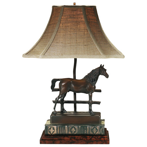 Horse and Fence Lamp