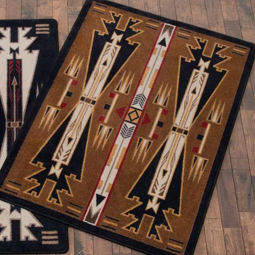 Horse Blanket Brown Rug - 8 x 11