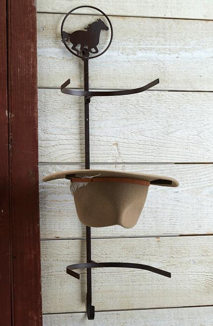 Horse Over-the-Door Cowboy Hat Rack