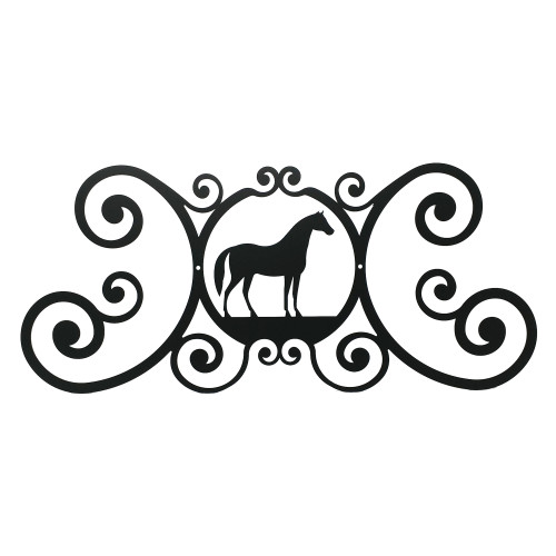 Horse Scroll Plaque