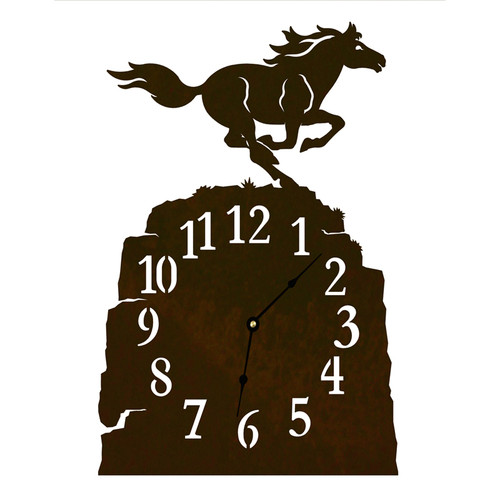 Horse Table Clock
