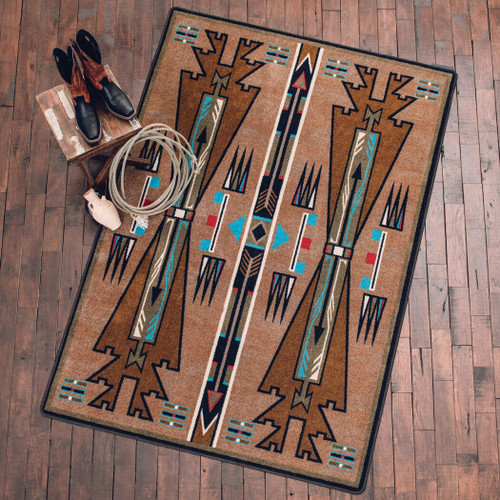 Horse Thieves Turquoise Rug - 4 x 5